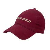 Cardinal Twill Unstructured Low Profile Hat-Iowa Wild Flat