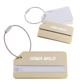 Gold Luggage Tag-Iowa Wild Flat Engraved