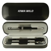 Black Roadster Gift Set-Iowa Wild Flat Engraved