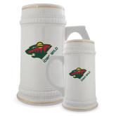 Full Color Decorative Ceramic Mug 22oz-Iowa Wild w Bear Head