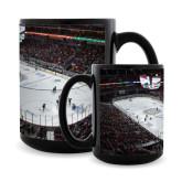 Full Color Black Mug 15oz-Stadium Photo