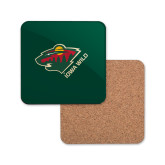 Hardboard Coaster w/Cork Backing-Iowa Wild w Bear Head
