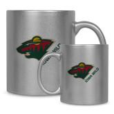 Full Color Silver Metallic Mug 11oz-Iowa Wild w Bear Head