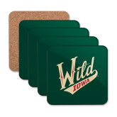Hardboard Coaster w/Cork Backing 4/set-Primary Mark