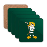 Hardboard Coaster w/Cork Backing 4/set-Mascot