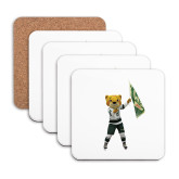 Hardboard Coaster w/Cork Backing 4/set-Mascot Photo