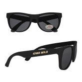 Black Sunglasses-Iowa Wild Flat