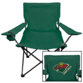 Deluxe Green Captains Chair-Iowa Wild w Bear Head