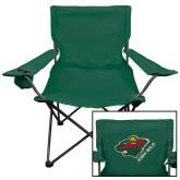 Deluxe Green Captains Chair-Iowa Wild w Bear Head