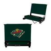 Stadium Chair Dark Green-Iowa Wild w Bear Head