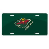 License Plate-Iowa Wild w Bear Head