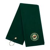 Dark Green Golf Towel-Secondary Mark
