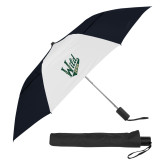 42 Inch Slim Stick Black/White Vented Umbrella-Primary Mark