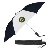 42 Inch Slim Stick Black/White Vented Umbrella-Secondary Mark