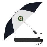 42 Inch Slim Stick Black/White Vented Umbrella-Secondary Mark