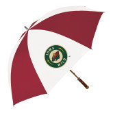 62 Inch Cardinal/White Umbrella-Secondary Mark