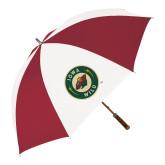 62 Inch Cardinal/White Umbrella-Secondary Mark