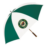 62 Inch Forest Green/White Umbrella-Secondary Mark