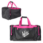 Black With Pink Gear Bag-Primary Mark