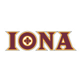 Large Decal-Iona Wordmark, 12 inches wide
