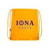 Gold Drawstring Backpack-Official Logo