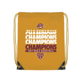 Gold Drawstring Backpack-MAAC Mens Basketball Champs