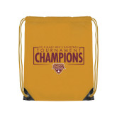 Gold Drawstring Backpack-2018 Mens Basketball Champions - Box