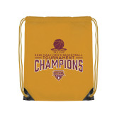 Gold Drawstring Backpack-2018 Mens Basketball Champions - Net w/ Basketball