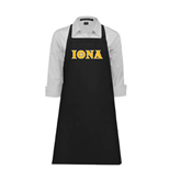 Full Length Black Apron-Iona Wordmark