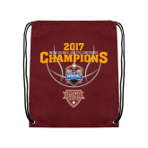 Maroon Drawstring Backpack-MAAC Mens Basketball Champs