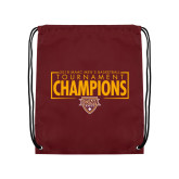 Maroon Drawstring Backpack-2018 Mens Basketball Champions - Box
