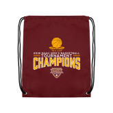 Maroon Drawstring Backpack-2018 Mens Basketball Champions - Net w/ Basketball
