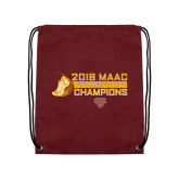Maroon Drawstring Backpack-2018 Womens XC MAAC Champions