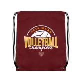 Maroon Drawstring Backpack-2018 MAAC Volleyball Champions