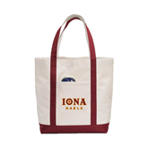 Contender White/Maroon Canvas Tote-Official Logo