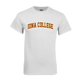White T Shirt-Arched Iona College