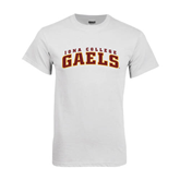 White T Shirt-Arched Iona College Gaels