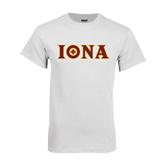 White T Shirt-Iona Wordmark