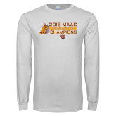 White Long Sleeve T Shirt-2018 Womens XC MAAC Champions