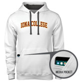 Contemporary Sofspun White Hoodie-Arched Iona College