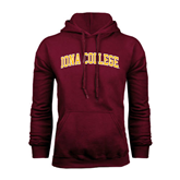 Maroon Fleece Hoodie-Arched Iona College