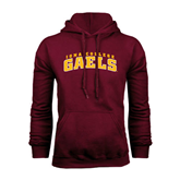 Maroon Fleece Hoodie-Arched Iona College Gaels