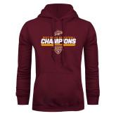 Maroon Fleece Hood-MAAC Mens Basketball Champs