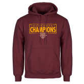Maroon Fleece Hoodie-2018 Mens Basketball Champions - Box