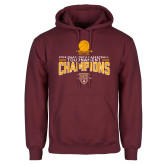 Maroon Fleece Hoodie-2018 Mens Basketball Champions - Net w/ Basketball