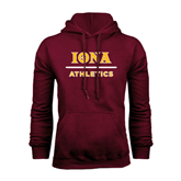 Maroon Fleece Hoodie-Athletics