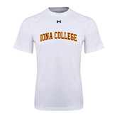 College  Under Armour White Tech Tee-Arched Iona College