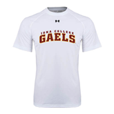 College  Under Armour White Tech Tee-Arched Iona College Gaels