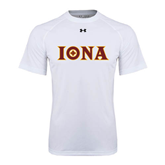 Under Armour White Tech Tee-Iona Wordmark