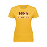 Ladies Gold T Shirt-Athletics